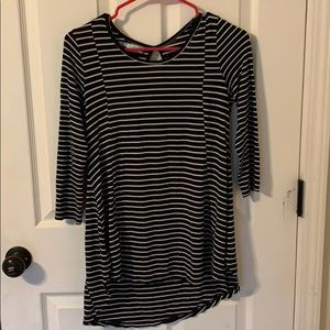 Black and white stripe Maurices top